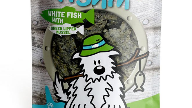 WHITE FISH with GREEN LIPPED MUSSEL Crunchies PLUS - Dog Gone Fishin
