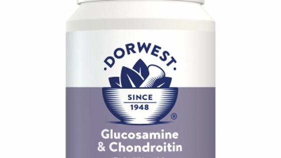 Glucosamine & Chondroitin Tablets For Dogs And Cats  - 100 Tablets - Dorwest He