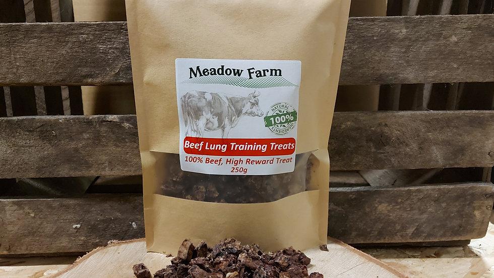 Beef Lung Training Treats 250g - Meadow Farm