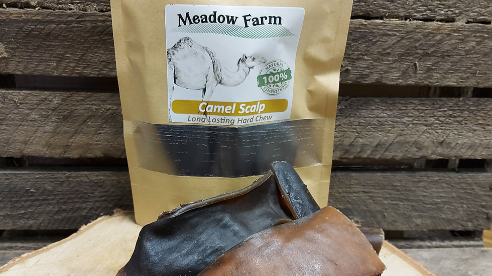 Camel Scalp Chew 150g, Meadow Farm