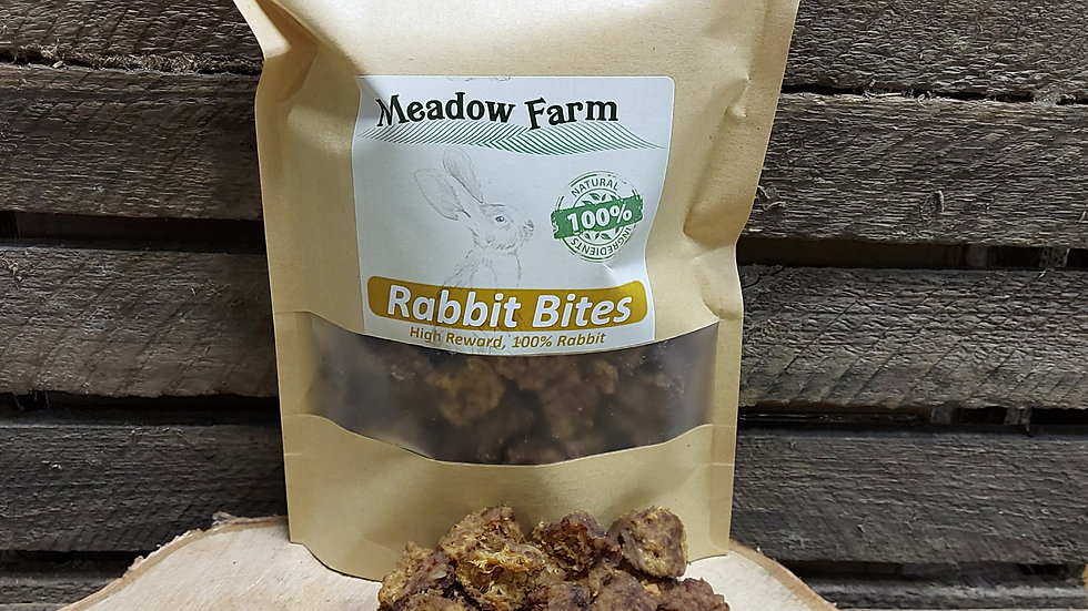 Rabbit Bites 350g, Meadow Farm