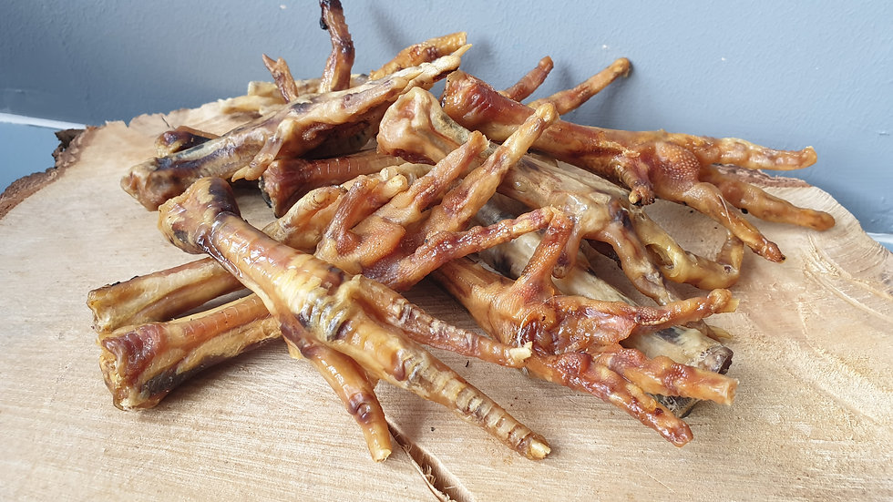 Air Dried Chicken Feet 1kg, Meadow Farm