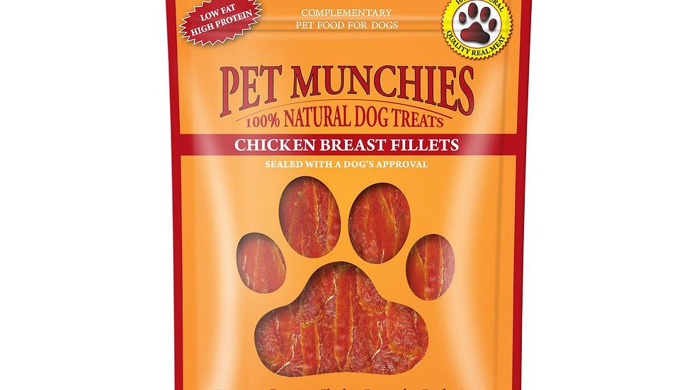Chicken Breast Fillets - Pet Munchies - 100g