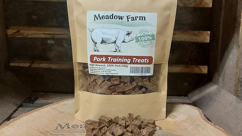 Pork Training Treats 200g, Meadow Farm
