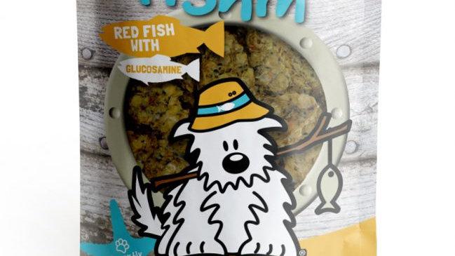 RED FISH with GLUCOSAMINE Crunchies PLUS - Dog Gone Fishin