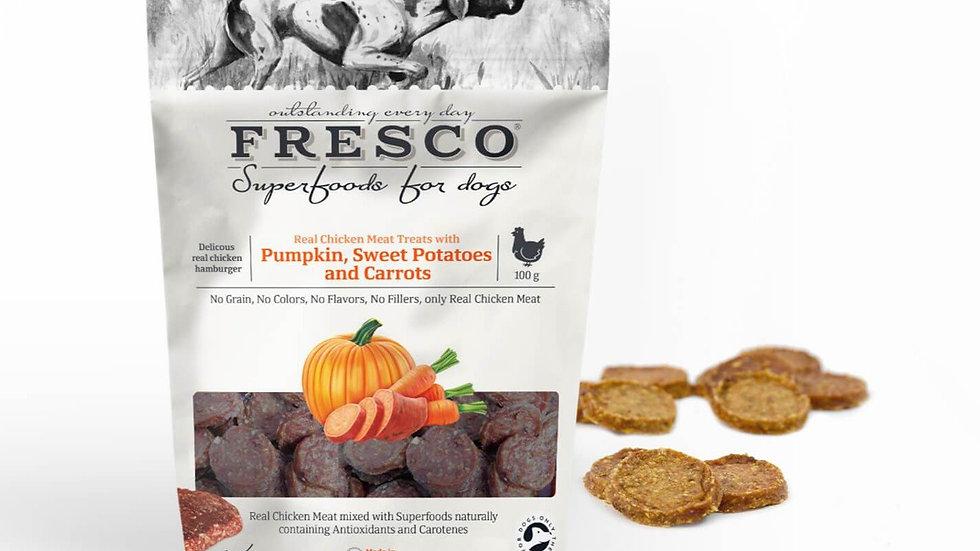 Fresco - Chicken Hamburger with Pumpkin, Sweet Potatoes and Carrots - 100g