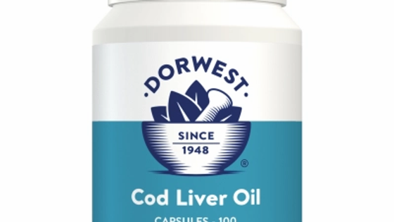Cod Liver Oil Capsules For Dogs And Cats - 200 capsules - Dorwest Herbs