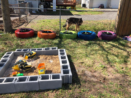 Digging area and tire planters