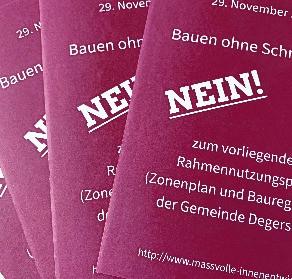Abstimmungs-Flyer im Briefkasten