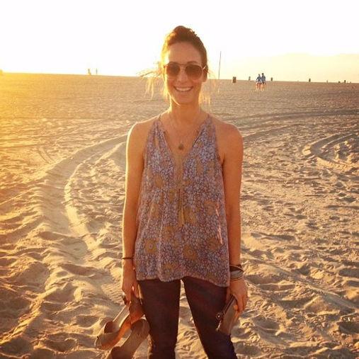 Jenn Krusinski Wellness Livin' it up at Venice Beach