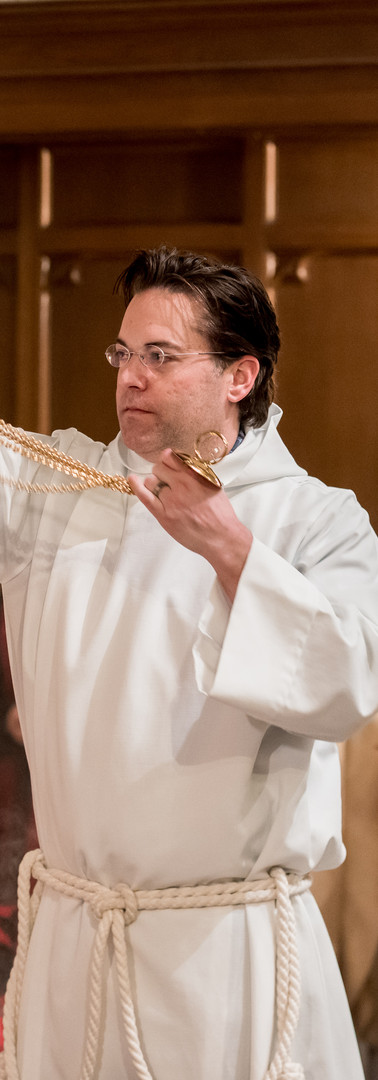 Incense is used on feast days at our 11:00am service