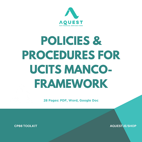 Policies and Procedures for UCITS management company - Framework