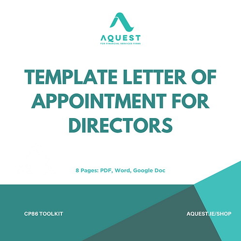 Template Letter of Appointment For Directors