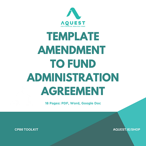Template Amendment to Fund Administration Agreement