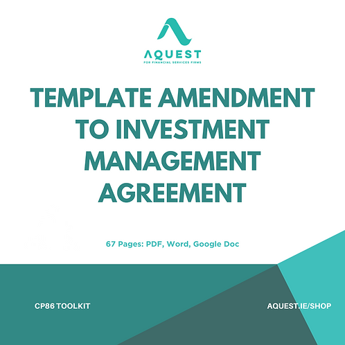 Template Amendment to Investment Management Agreement