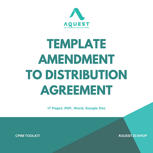 Template Amendment to Distribution Agreement