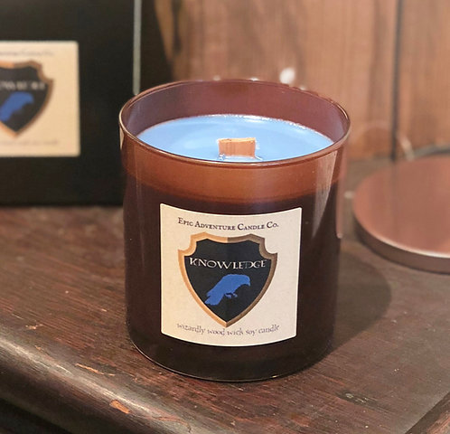 Wizardly House Candles   Wood Wick, Soy   Nerdy Geeky Fantasy Book Fan Gift