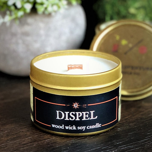 Dispel Candle | Wood Wick, Soy | RPG, Gamer, DnD, Geek Gift | Freshening Scent