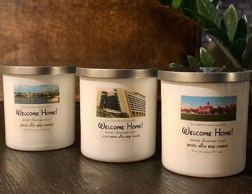 Welcome Home! | Wood Wick, Soy | Theme Park Scent | Grand Flo, Contemp, Beach