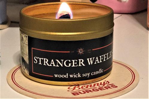 Stranger Waffles Candle | Wood Wick, Soy | Geeky Sci-Fi Fan Gift