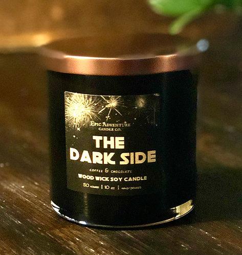 THE DARK SIDE Candle   Wood Wick, Soy   SciFi Fan Geek Gift   Chocolate & Coffee