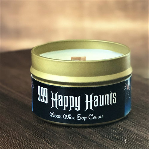 999 Happy Haunts Candle | Wood Wick, Soy | Theme Park Fan Gift