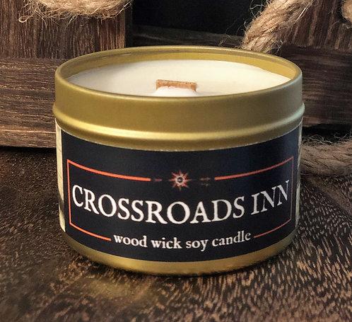 Crossroads Inn Candle | Wood Wick, Soy | RPG Setting