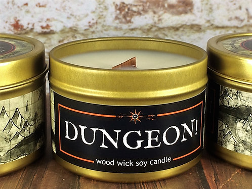DUNGEON! Candle | Wood Wick, Soy | RPG Tabletop Gaming Scent