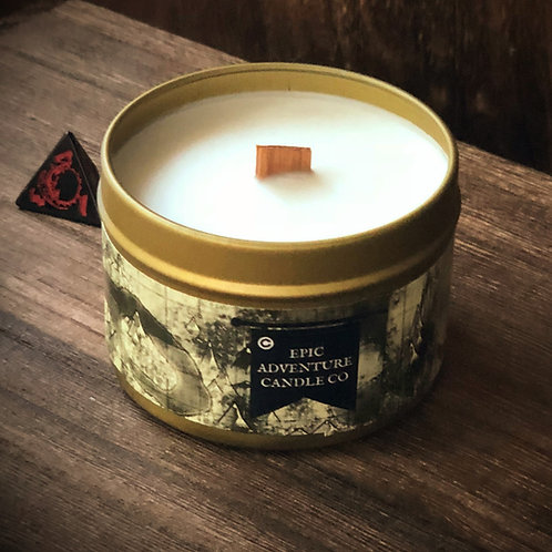 Lost Cavern Candle | Wood Wick, Soy | RPG Tabletop Gaming Scent