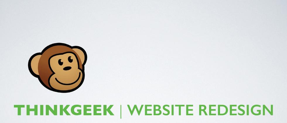 Thinkgeek Website Redesign