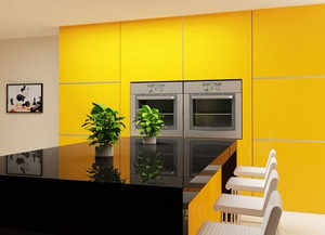 HOT FOR HUE: YELLOW DECOR IN THE KITCHEN AND BATHROOM