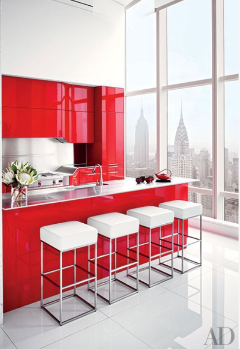 HOT FOR HUE: RED DECOR IN THE KITCHEN AND BATHROOM