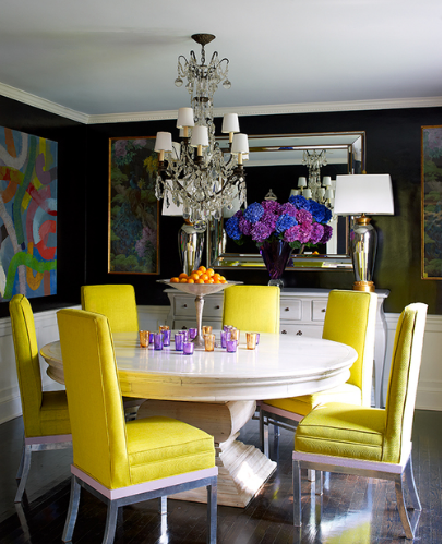 HOT FOR HUE: YELLOW DECOR IN THE DINING ROOM