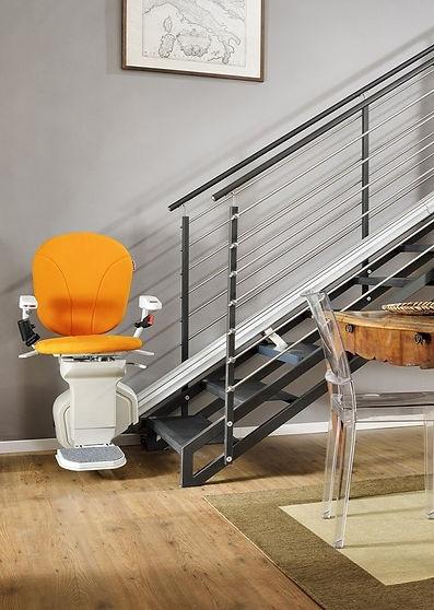 Montascale a sedia per rampa diritta