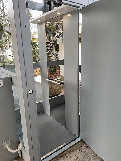 Dettagli cabina panoramica elevatore per