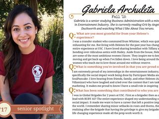 Helenes Senior Spotlight: Gabriela Archuleta