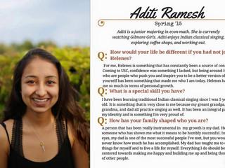 Helenes Spotlight: Aditi Ramesh