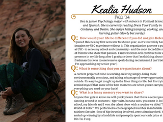 Helenes Spotlight: Kealia Hudson