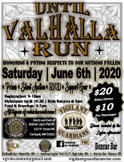 VGVMC Until Valhalla Run 2020