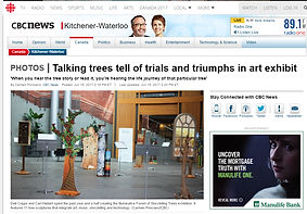 CBC Canada News - Talking trees tell of trials and triumphs in art exhibit