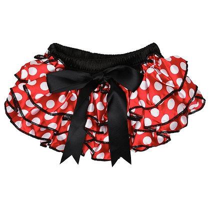 JuDanzy: Red Polka Dot Ruffle Satin Diaper Cover