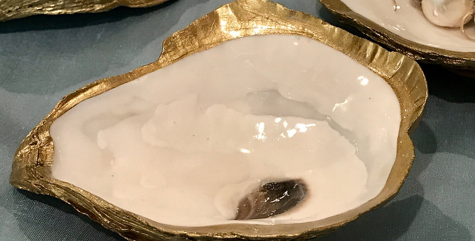 Oyster Shell in Gold by Grit and Grace