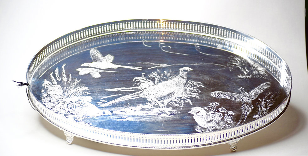 Silverplate Pheasant Tray