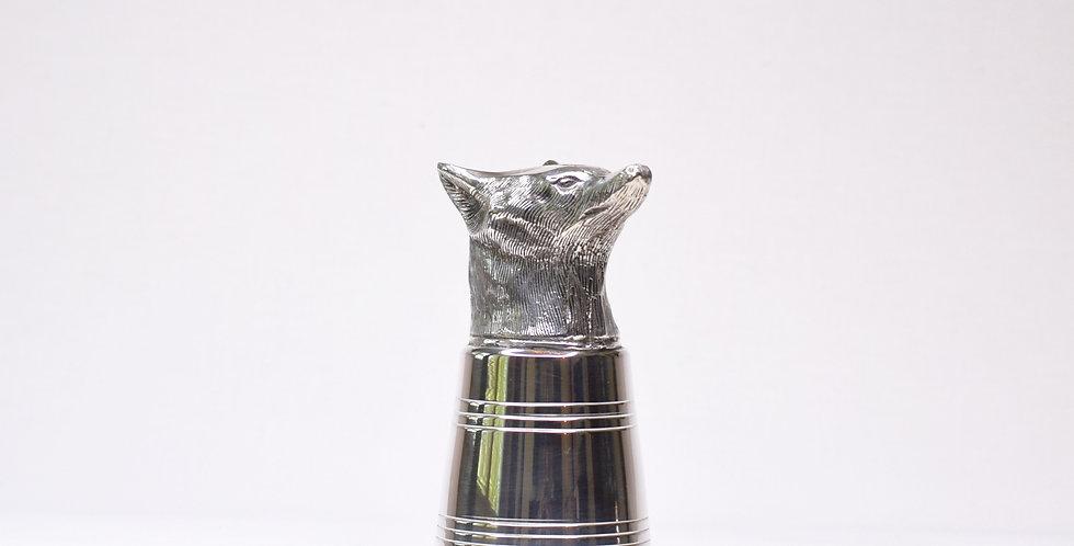 Jigger - Fox Stirrup Silver Plate