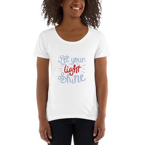 Let you light shine - Ladies' Scoopneck T-Shirt