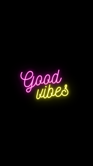 Good Vibe Pink and Yellow iPhone Wallpaer