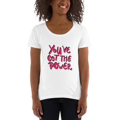 You've got the power - Ladies' Scoopneck T-Shirt