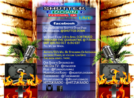Shutter down Festival UK Live Teams up with Touchroad!