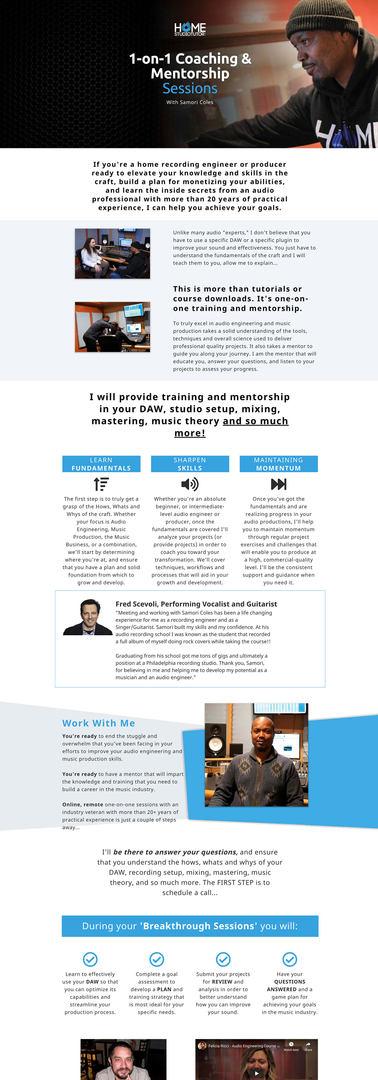 Home Studio Tutors - 1-on-1 Coaching & Mentorship Sessions