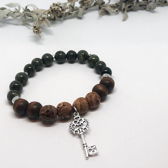 Key to the Past Mala Bracelet